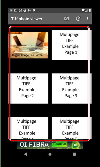 Распознанные файлы в TIFF Photo Viewer Free для открытия TIFF на Android