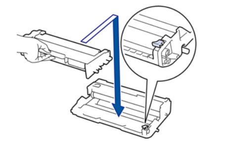 Установка нового тонера лазерного принтера Brother в фотобарабан