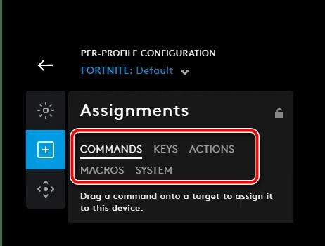 Возможности настройки кнопок в конфигурационном приложении для настройки мыши Logitech через G HUB