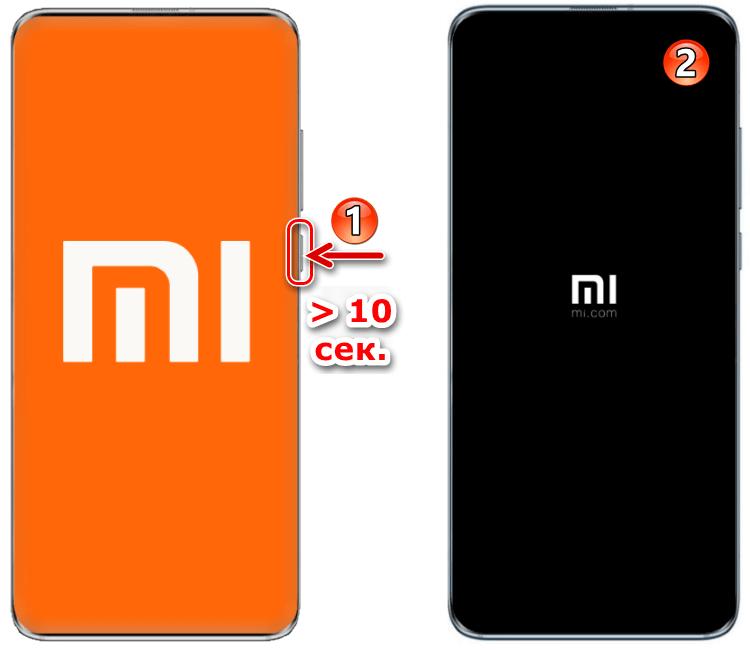 Xiaomi жесткая перезагрузка смартфона вне зависимости от его состояния