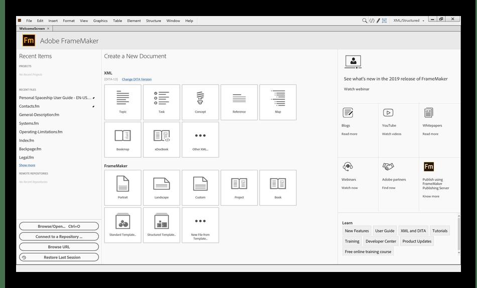 Использование программы Adobe FrameMaker для верстки журналов