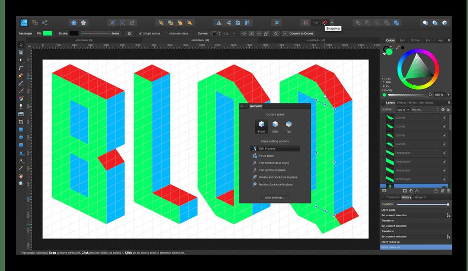 Использование программы Affinity Designer для создания векторной графики