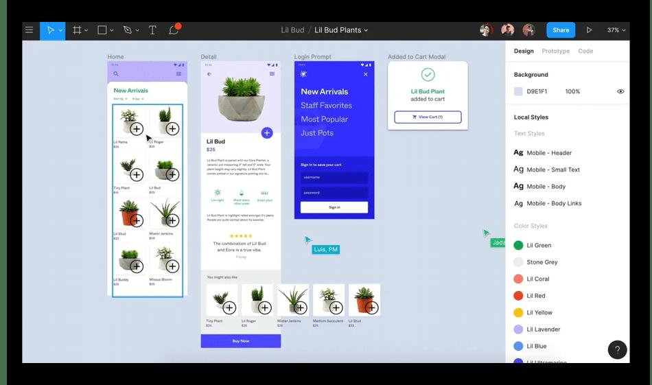 Использование программы Figma для создания макета сайта