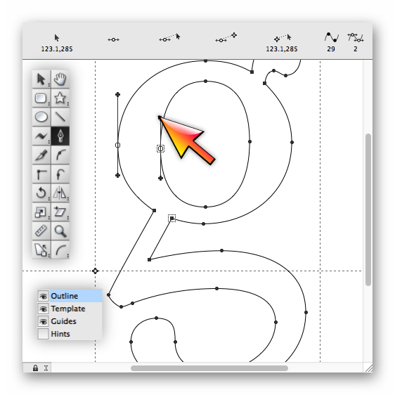 Использование программы Fontographer для создания шрифтов