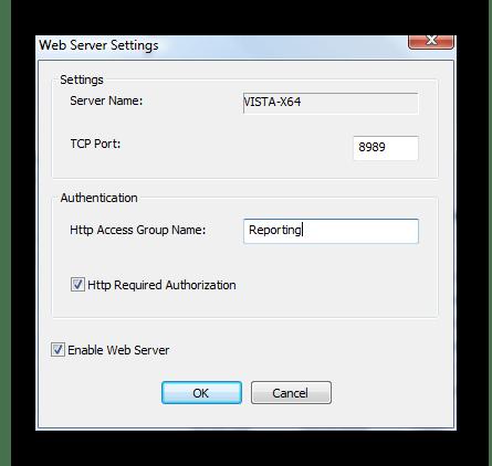 Настройка веб-интерфейса для просмотра отчетов в программе O&K Print Watch