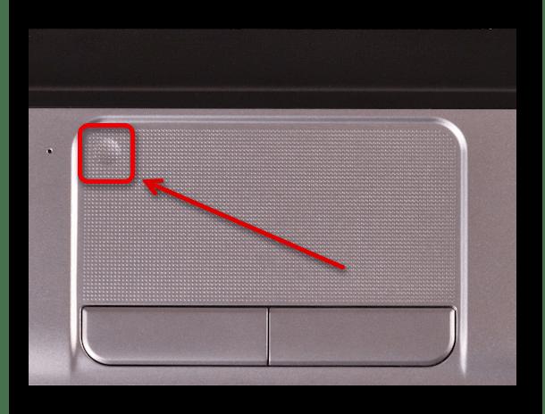 Отключение сенсорной панели на ноутбуке HP с помощью области на тачпаде