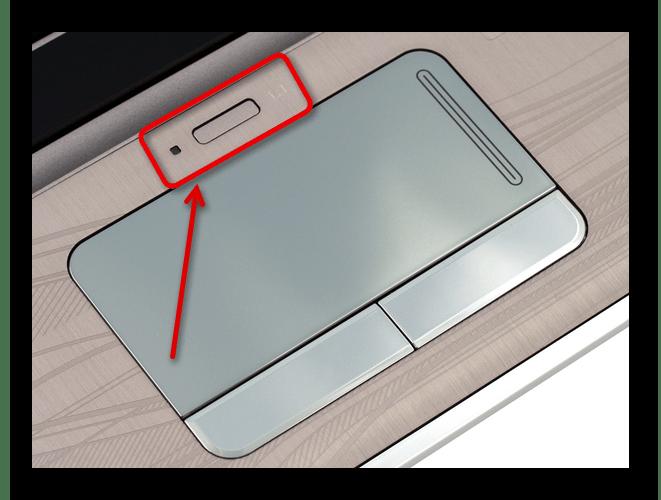 Отключение сенсорной панели на ноутбуке HP с помощью отдельной кнопки