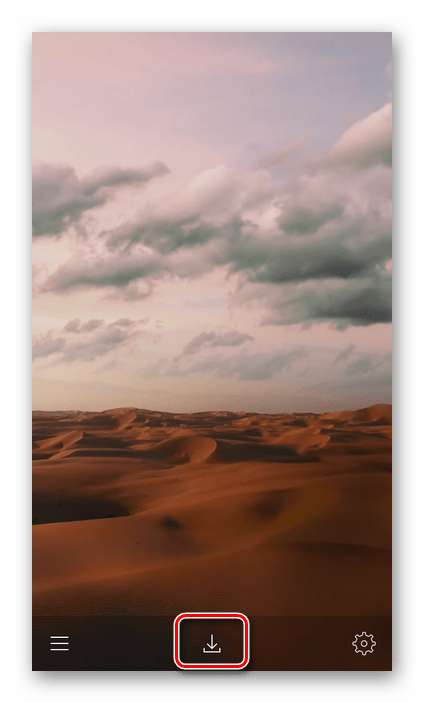Скачивание изображения в приложении Живые обои на айфон 11 для iPhone