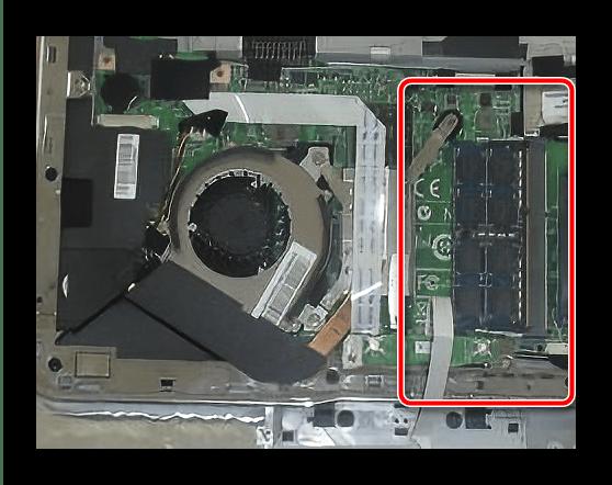 Снять оперативную память для разборки ноутбука MSI X370 MS-1356