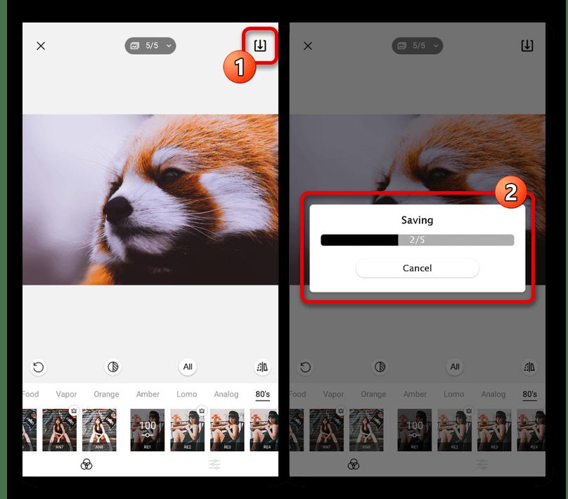 Сохранение проекта со сторис в приложении StoryArt