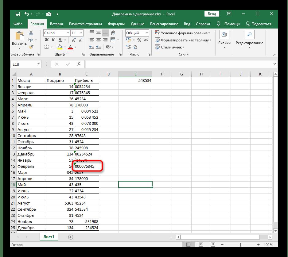 Успешное добавление нулей перед числом в ячейке после быстрого изменения ее формата в Excel