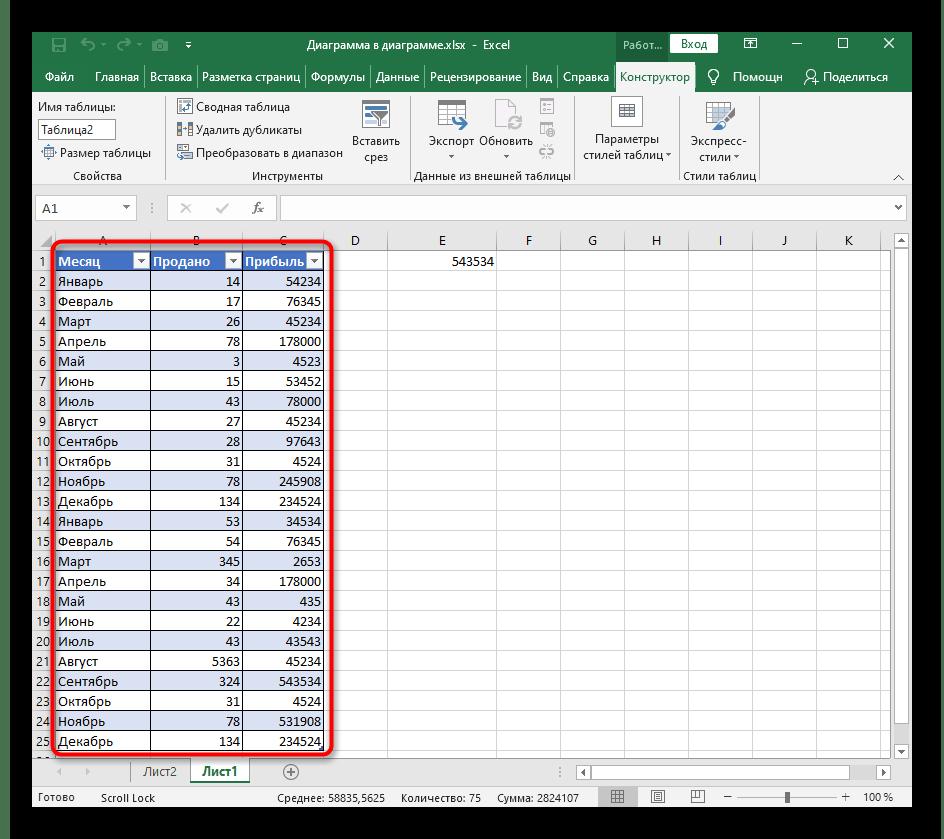 Успешное создание таблицы при ее расширении в программе Excel