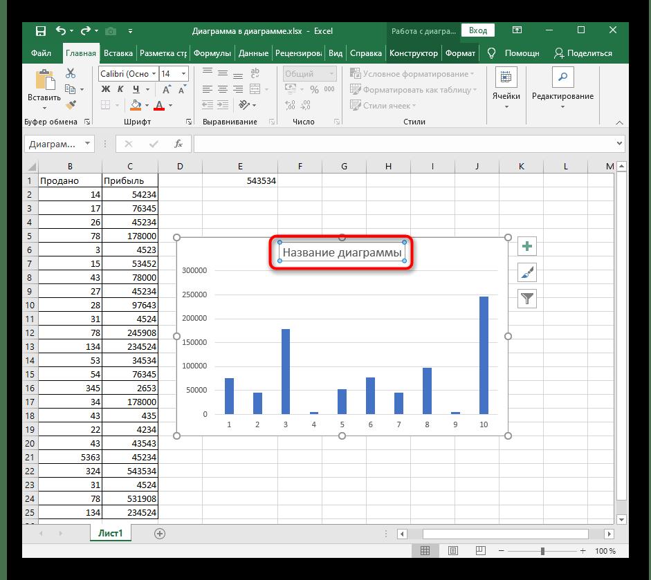 Выбор элемента диаграммы для удаления содержимого в Excel
