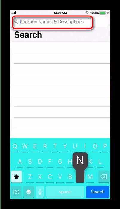 Выполнить поиск твика в Cydia для подключения геймпада PS4 к iPhone старой версии