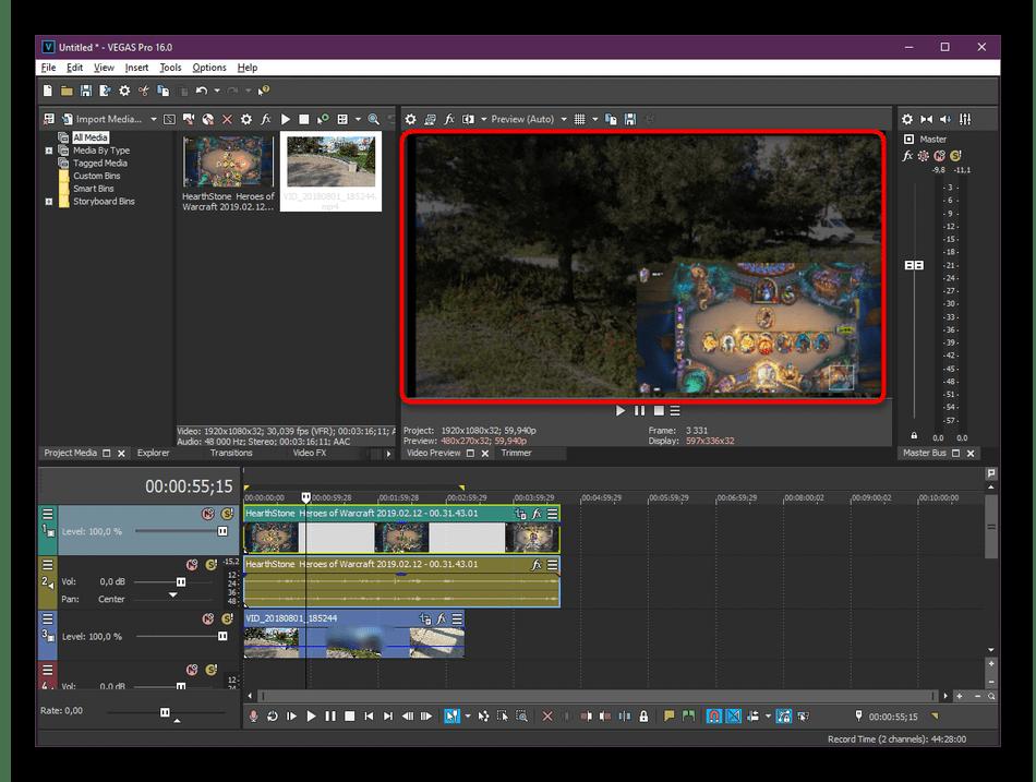 Использование программ для наложения видео на один кадр на компьютере