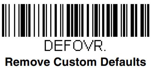 Код для сброса пользовательских параметров при настройке сканера Honeywell Voyager 1450g
