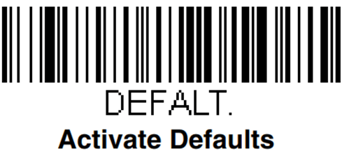 Код для восстановления заводских параметров при настройке сканера Honeywell Voyager 1450g