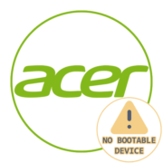 No Bootable Device на ноутбуке Acer