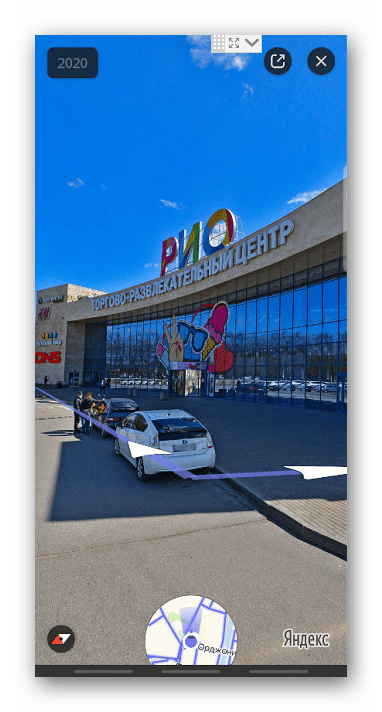 Панорама улицы в Яндекс Картах
