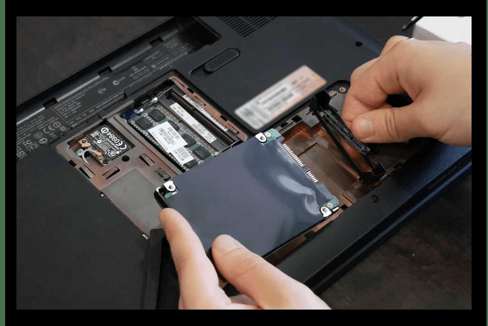 Переподключение жесткого диска или SSD в ноутбуке при ошибке Operating System not found