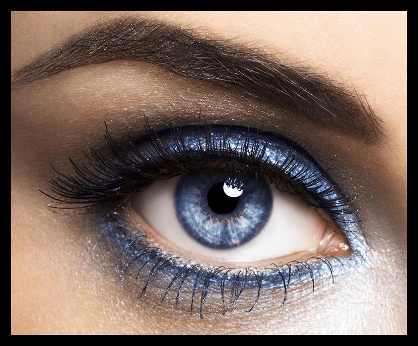 Результат изменения цвет глаз на фото при помощи программы Adobe Photoshop