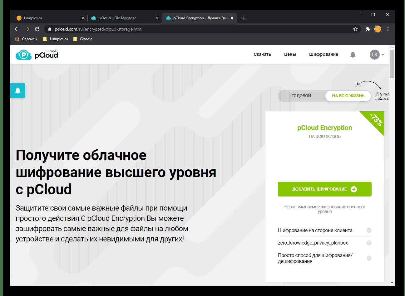 Шифрование данных, доступное для всех версий pCloud Drive