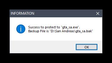 Успешная активация защиты игры при помощи пароля в программе Game Protector в Windows 10
