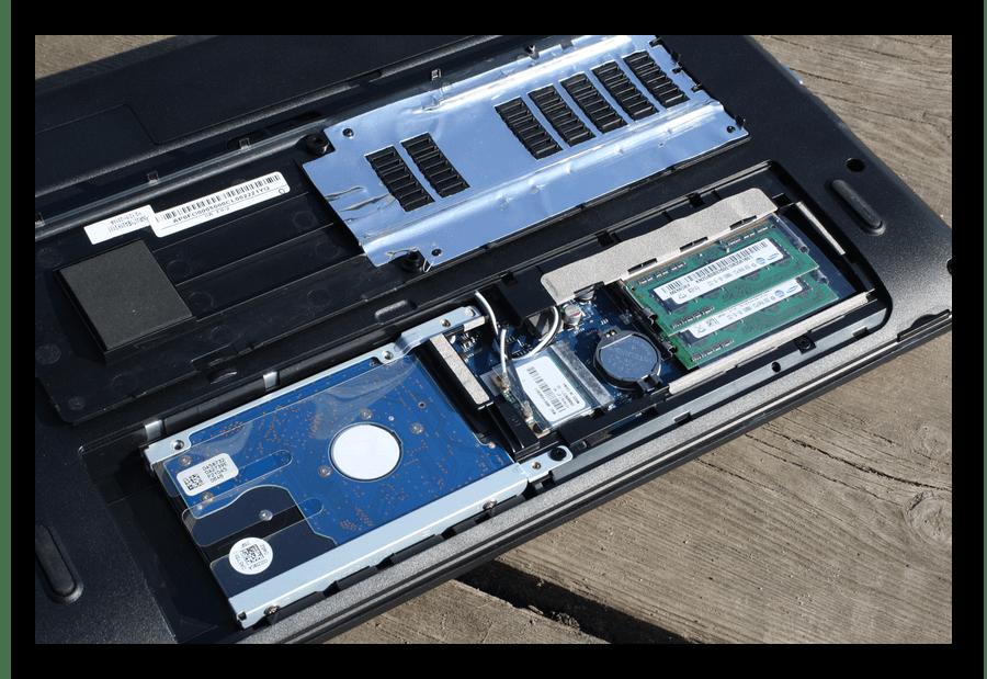 Вскрытие задней крышки ноутбука Acer для переподключения жесткого диска или замены батарейки на материнской плате