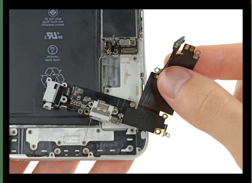 Замена Lightning-разъема на iPhone