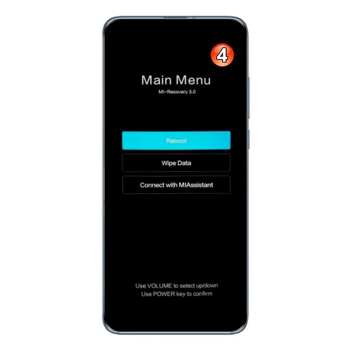Хiaomi MIUI - смартфон в режиме рекавери