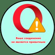 ошибка «ваше подключение не является приватным» в браузере