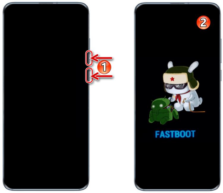Переключение смартфона Xiaomi в режим FASTBOOT