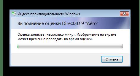 Процесс оценки производительности системы при решении проблемы с отключением упрощенного стиля в Windows 7