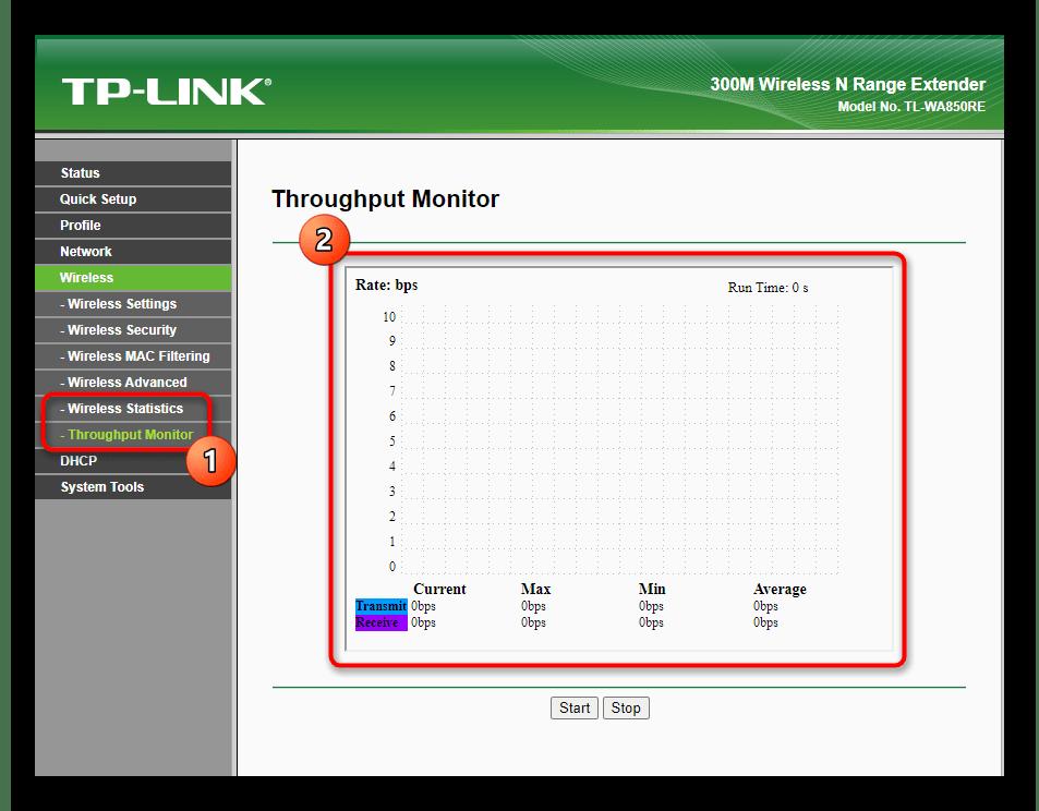Просмотр информации о беспроводной сети при настройке усилителя TP-Link TL-WA850RE v1.2