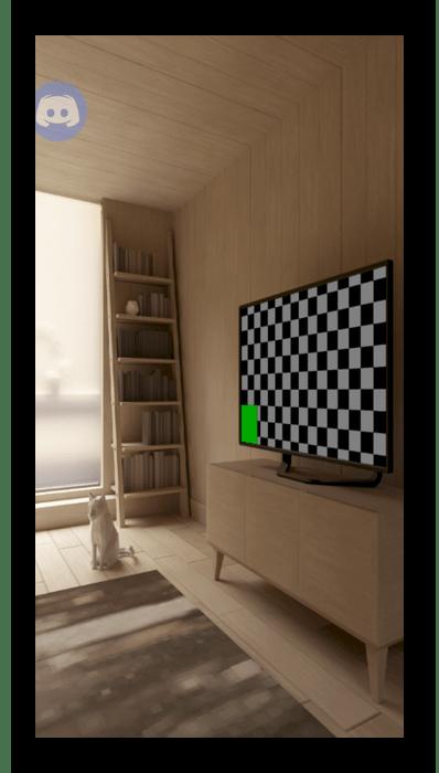 Успешное переключение камеры при общении в голосовом чате мобильного приложения Discord