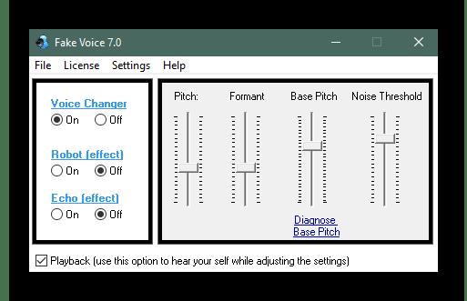 Использование программы Fake Voice для изменения голоса в Discord