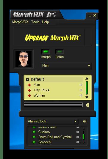 Использование программы MorphVox Junior для изменения голоса в Discord