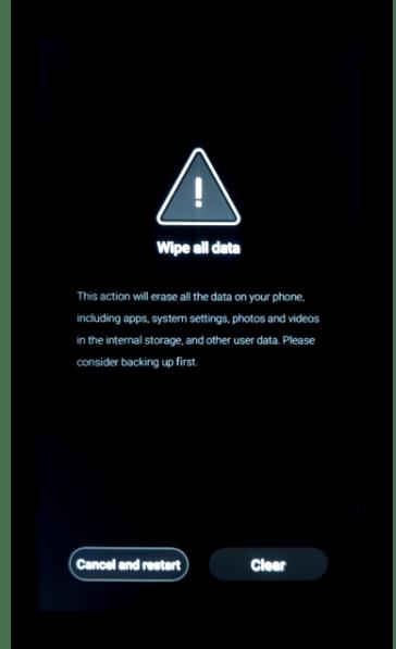 Meizu M5 Note вызов экрана сброса настроек смартфона в заводском рекавери