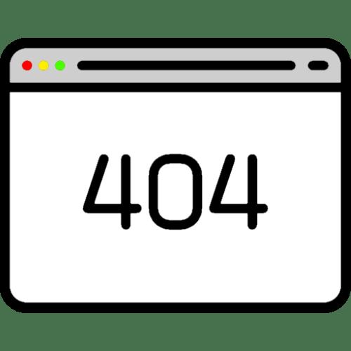 ошибка 404 «страница не найдена» в браузере