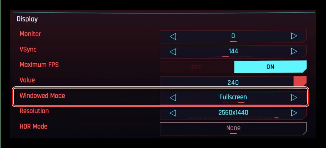 Включение полноэкранного режима для скрытия панели задач в играх