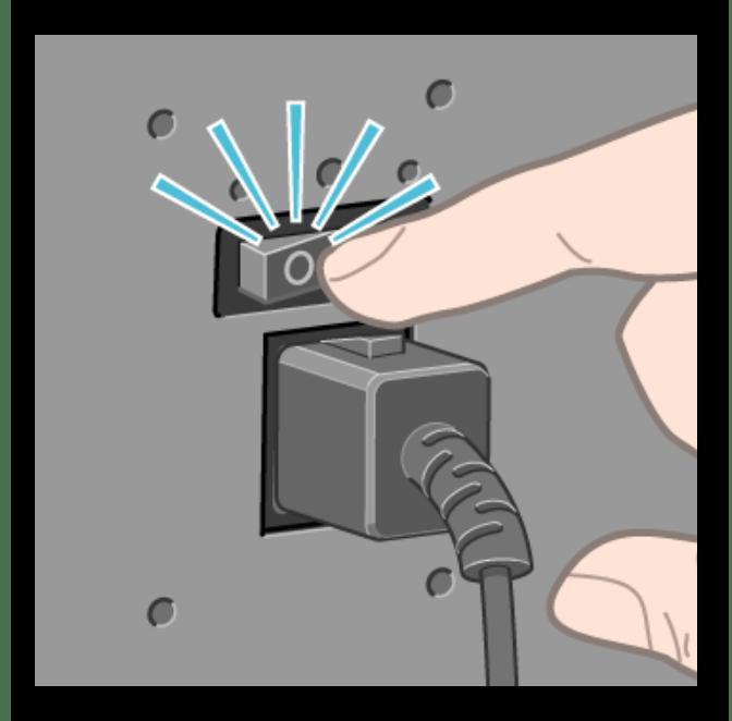 Использование переключателя для отключения питания принтера при его перезагрузке