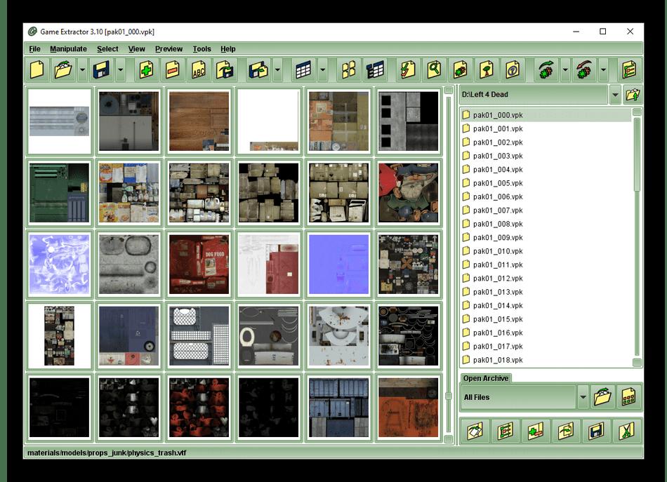 Использование программы Game Extractor для извлечения игровых ресурсов