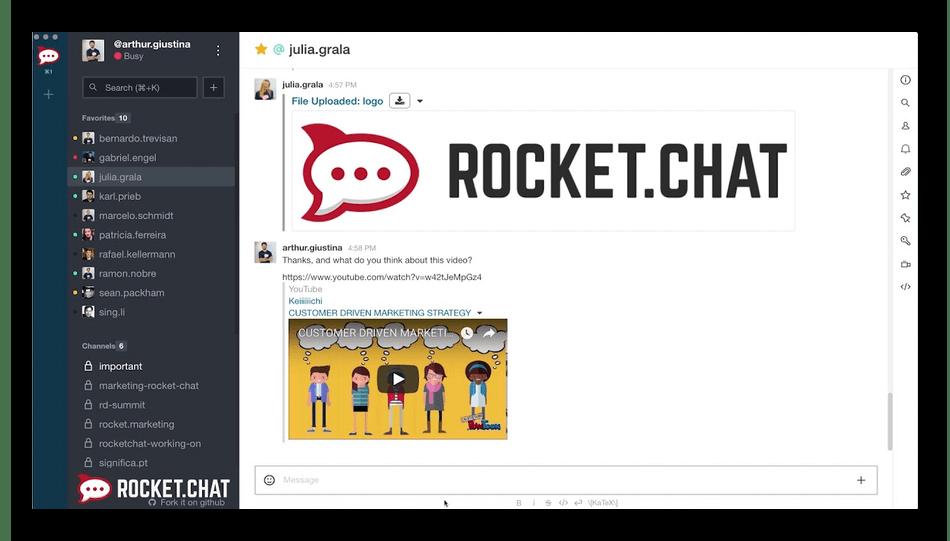 Использование программы Rocket.chat как аналог Discord