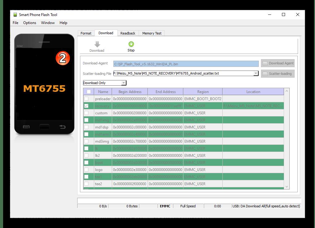 Meizu M5 Note подключение смартфона к ПК для прошивки рекавери через программу