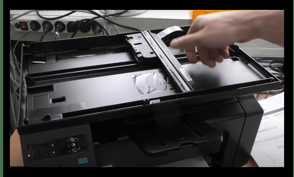 Проверка блока сканера для решения ошибки E8 на принтере HP LaserJet 1132