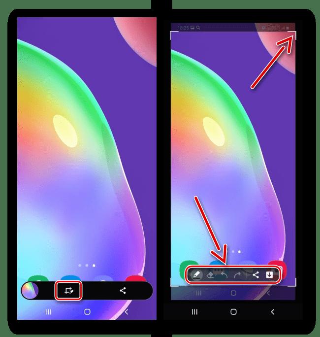 Редактирование скриншота на Samsung A41