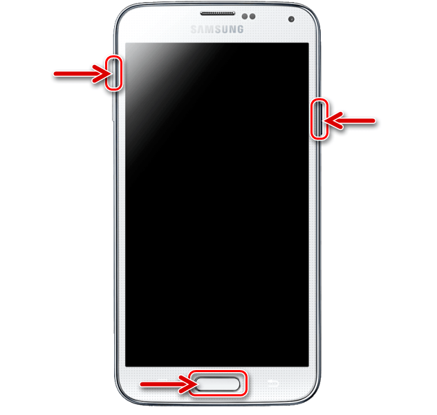 Samsung Galaxy S5 запуск кастомного рекавери TWRP на смартфоне после прошивки через Odin