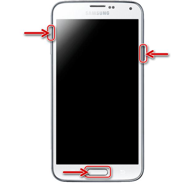 Samsung Galaxy S5 запуск среды восстановления (рекавери) на смартфоне