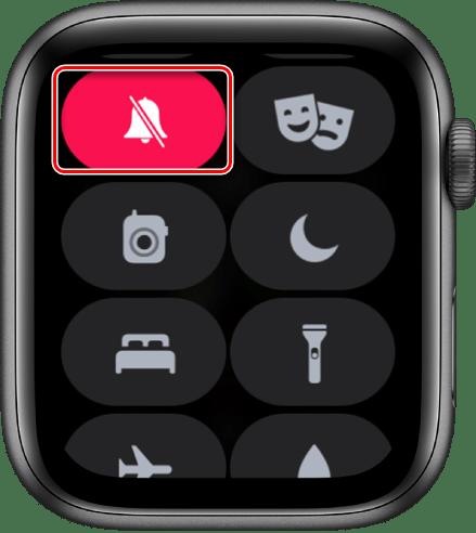 Включение бесшумного режима на часах Apple Watch