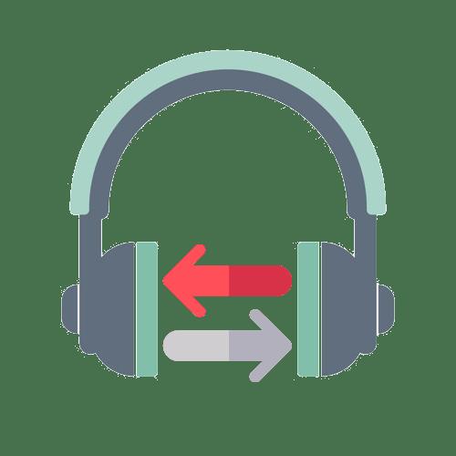 как поменять звук в наушниках местами
